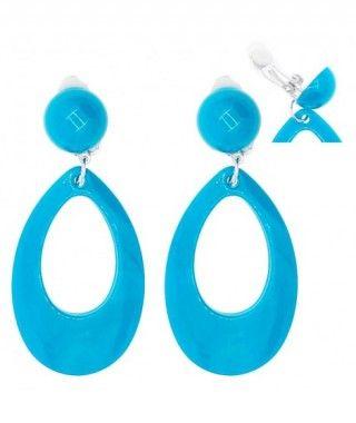 Pendientes Flamenca Azules Ovalados