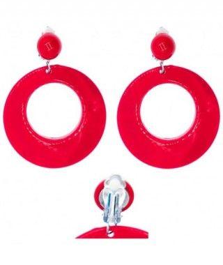 Pendientes Flamenca Rojos Aro