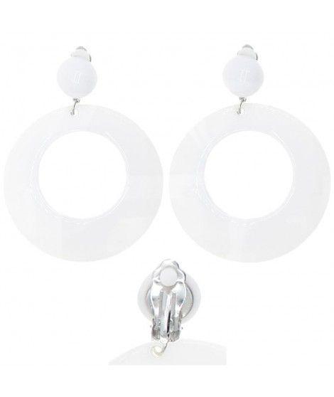 Pendientes Flamenca Blancos Aro