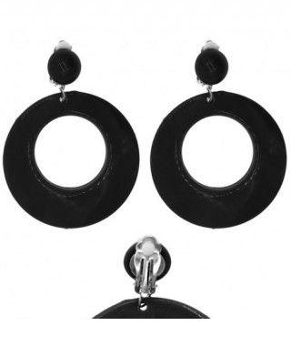 Pendientes Flamenca Negros Aro