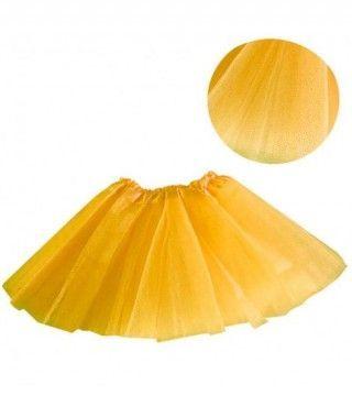 Tutú infantil amarillo purpurina bailarina 25 cm