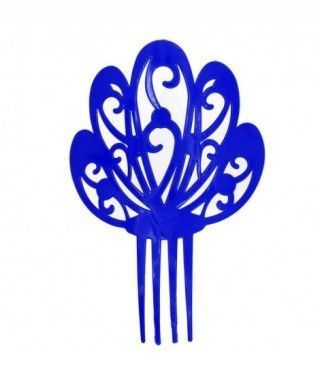 Peineta Flamenca Azul Oscuro Moderna