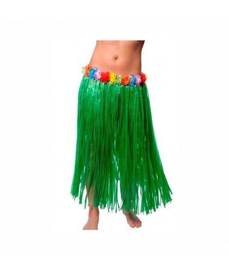 Falda Hawaiana Adulto Hula Verde (80 cm)