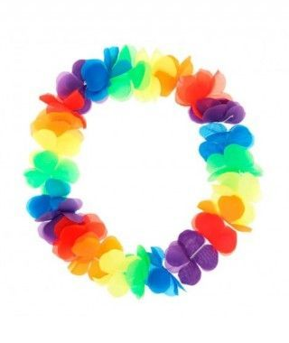 Collar Hawaiano Colorines Flores Grandes