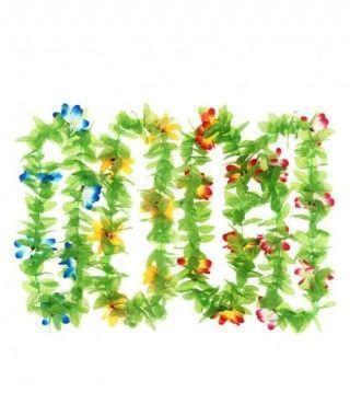 Collar Hawaiano Flores Hojas
