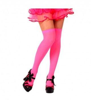 Medias Fucsias Lisas Accesorio Carnaval y Halloween