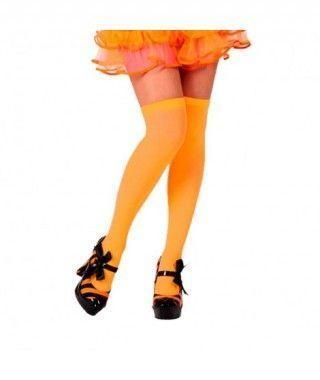 Medias Naranjas Lisas Accesorio Carnaval y Halloween