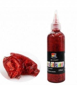 Purpurina Roja con Pegamento Manualidades 100 ml