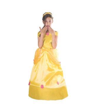 Disfraz Princesa Vestido Amarillo