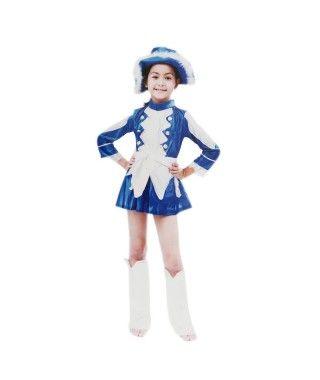 Disfraz Majorette Azul Niña