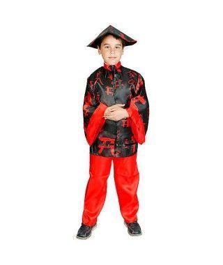 Disfraz Chino Rojo y Negro Niño