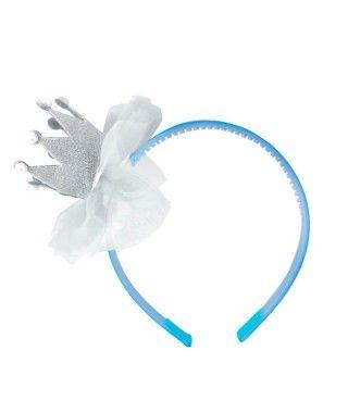 Mini Corona Princesa Perlitas Azul Accesorio