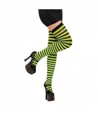 Medias Rayas Negras y Verdes Accesorio Carnaval y Halloween