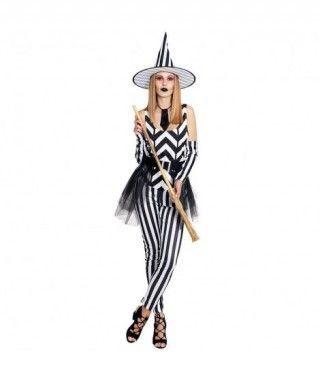 Disfraz Bruja Rayas Mujer