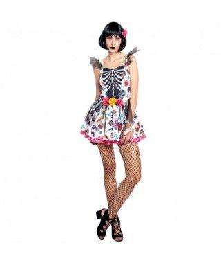 Disfraz Catrina Colourful Mujer