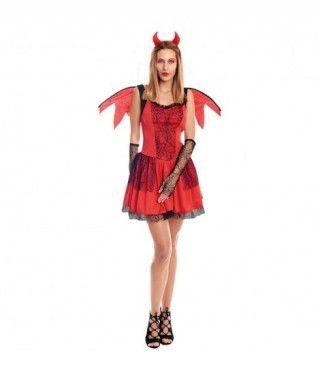 Disfraz Diablesa Alada Mujer