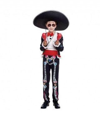 Disfraz de Catrín Mejicano Esqueleto Niño