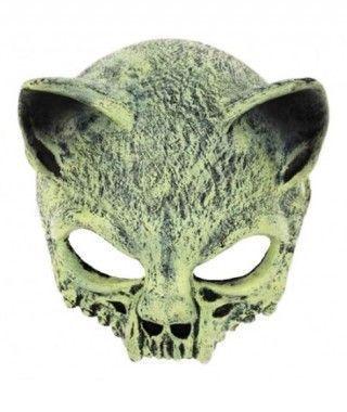 Máscara Cráneo Gato Goma
