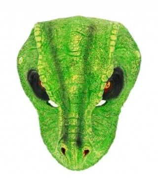 Máscara T-Rex Reptil Dinosaurio Goma