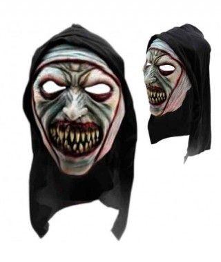 Máscara Monja Expresiva Látex Capucha