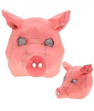 Máscara Cerdo Origami Látex