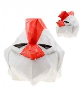 Máscara Gallo Gallina Origami Látex
