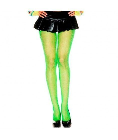 Pantys de Rejilla Verde Neón Accesorio Carnaval y Halloween