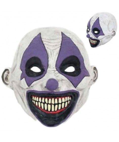 Máscara Payaso Loco Rombos Látex