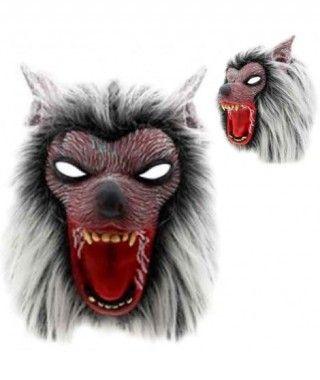 Máscara Hombre Lobo con Pelo Látex