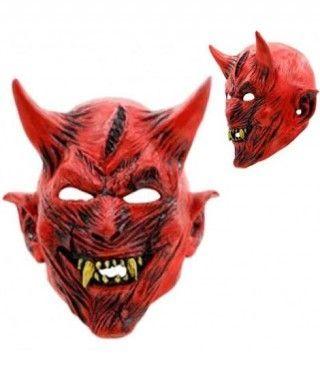 Máscara Diablo Rojo Látex