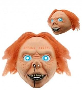 Máscara Muñeco Asesino con Pelo Látex