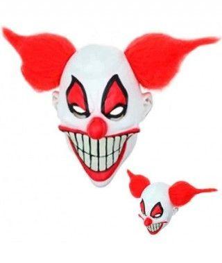 Máscara Payaso Loco Circus Pelo Látex