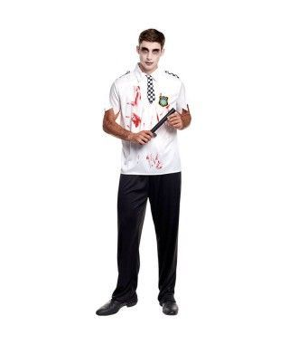 Disfraz Policía Zombie Hombre