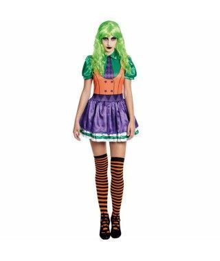 Disfraz Bufona Verde Mujer