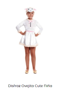 disfraz belén viviente oveja niña