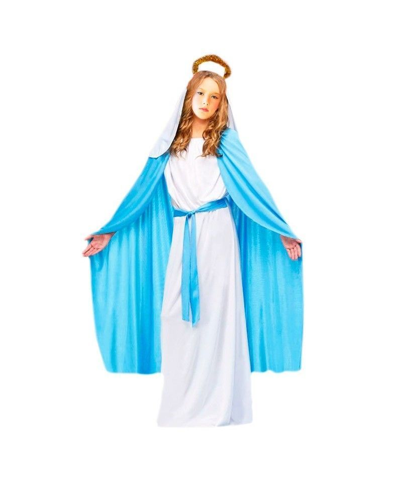 disfraz virgen maria-nina infantil para navidad