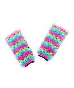 calentadores de pelo multicolor para disfraces de unicornio