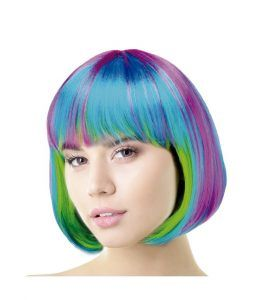 peluca pelo multicolor para disfraces de unicornio