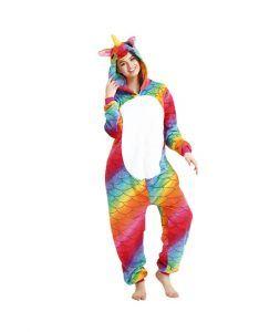 disfraces de unicornio adulto multicolor