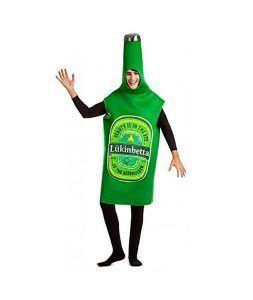 disfraz botella verde de cerveza día de san patricio