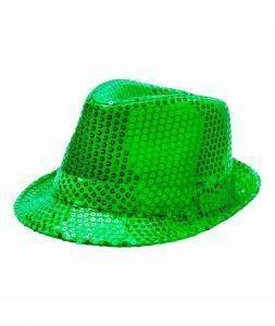 gorro lentejuelas verde san patricio