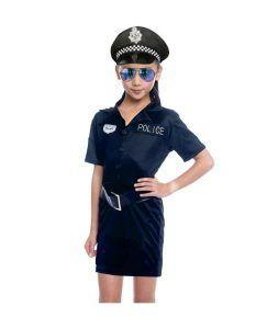 disfraz policía para tu hija en el día de la madre