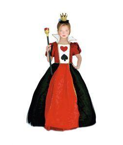 disfraz reina de corazones para tu hija en el día de la madre
