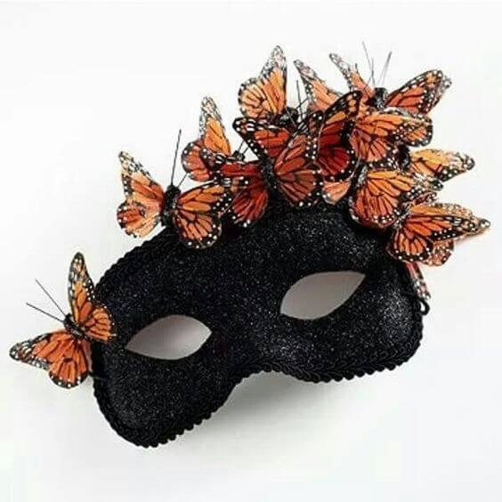 antifaz casero con mariposas