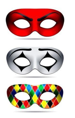 diseños antifaces arlequin