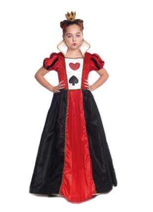 Disfraz Reina Corazones Niña