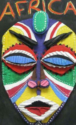 mascara africana manualidades