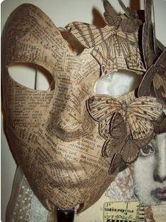 mascara manualidades periodico