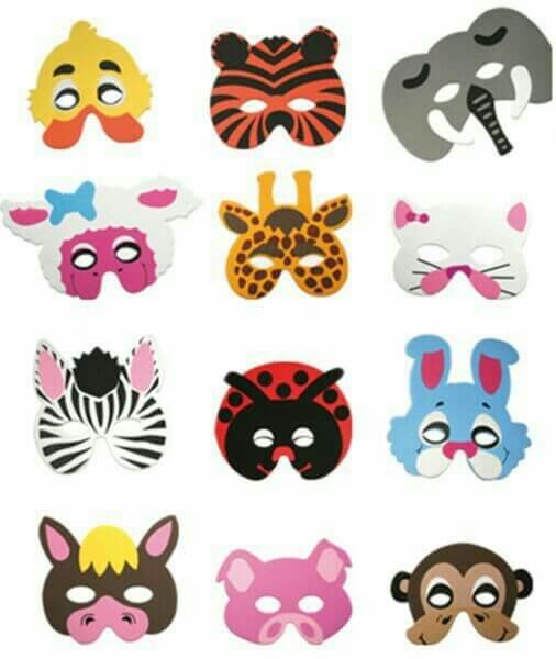 templates mascaras animales