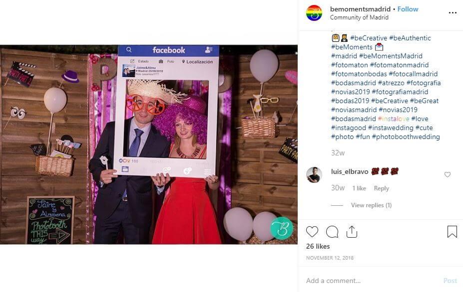 bemoments marco facebook bodas